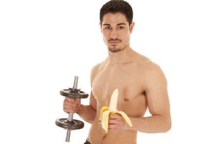 Mann mit der Banane