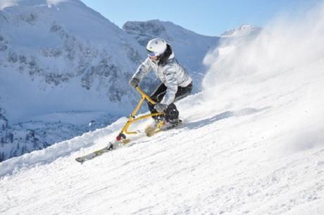 Snowbike als Trendsport im Winter
