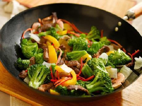 Fettarme Gemüsepfanne